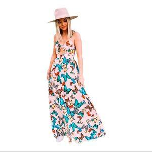NWOT Buddy Love Butterfly Maxi Dress